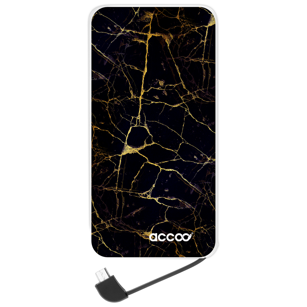 Batterie externe Modèle L - Design Golden Black