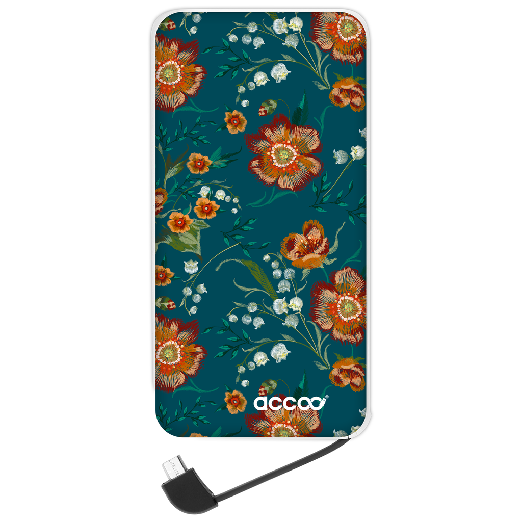 Batterie externe Modèle L - Design Winter Floral