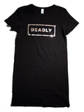 SHORT SLEEVE SILVER DEADLY DRESS