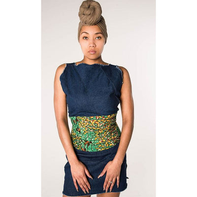 Denim Corset Top - green-stitch-fashion