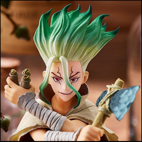 Figurine Dr.Stone : Figure Of Stone World Senku Ishigami - Nihon No Sekai Banpresto Nihon No Sekai manga  anime  Figurine Dr.Stone Pop Up Parade Ruby Rose - Figurine Senku Ishigami