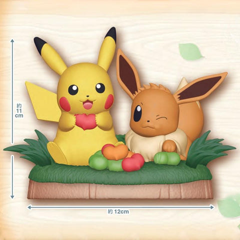 Pokemon Pokemon - Figure Pikachu & Evoli - Nihon No Sekai Banpresto 4904790891236 Nihon No Sekai manga  anime  Figurine Pokemon - Figure Pikachu & Evoli