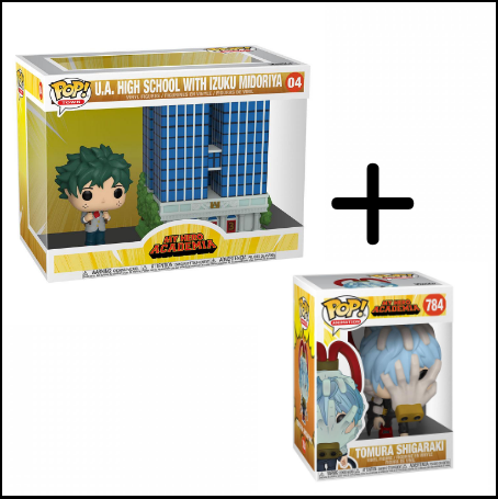 My Hero Academia Pop Animation Vinyl Figurine Tomura Shigaraki - Nihon No Sekai Funko Nihon No Sekai manga  anime  Figurine My Hero Academia Pop! Town Vinyl Figurine U.A High School w/Deku In Uniform + Figurine Tomura Shigaraki