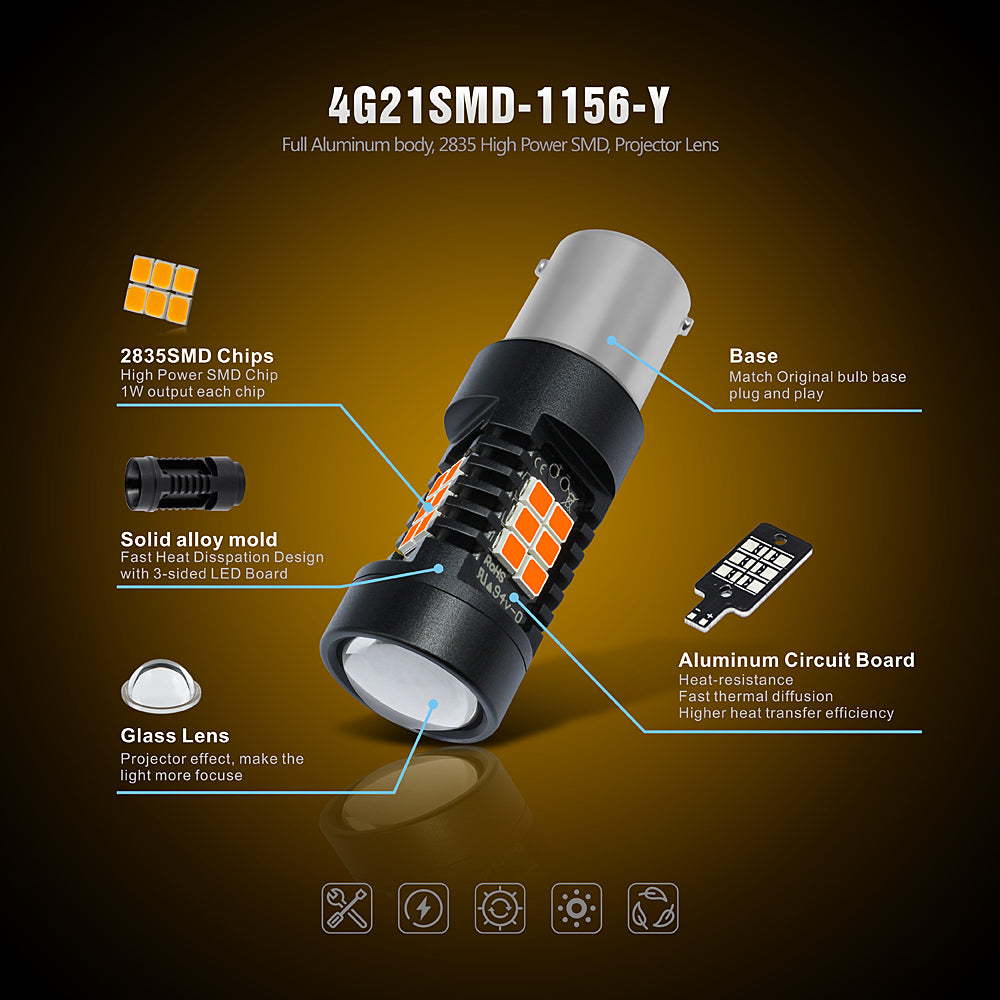 CK Series LED Exterior Light-1156 Amber