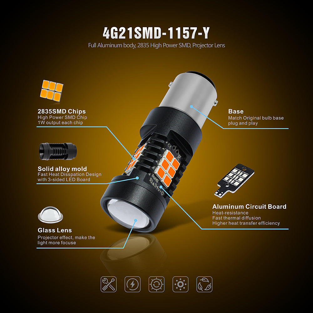 CK Series LED Exterior Light-1157 Amber