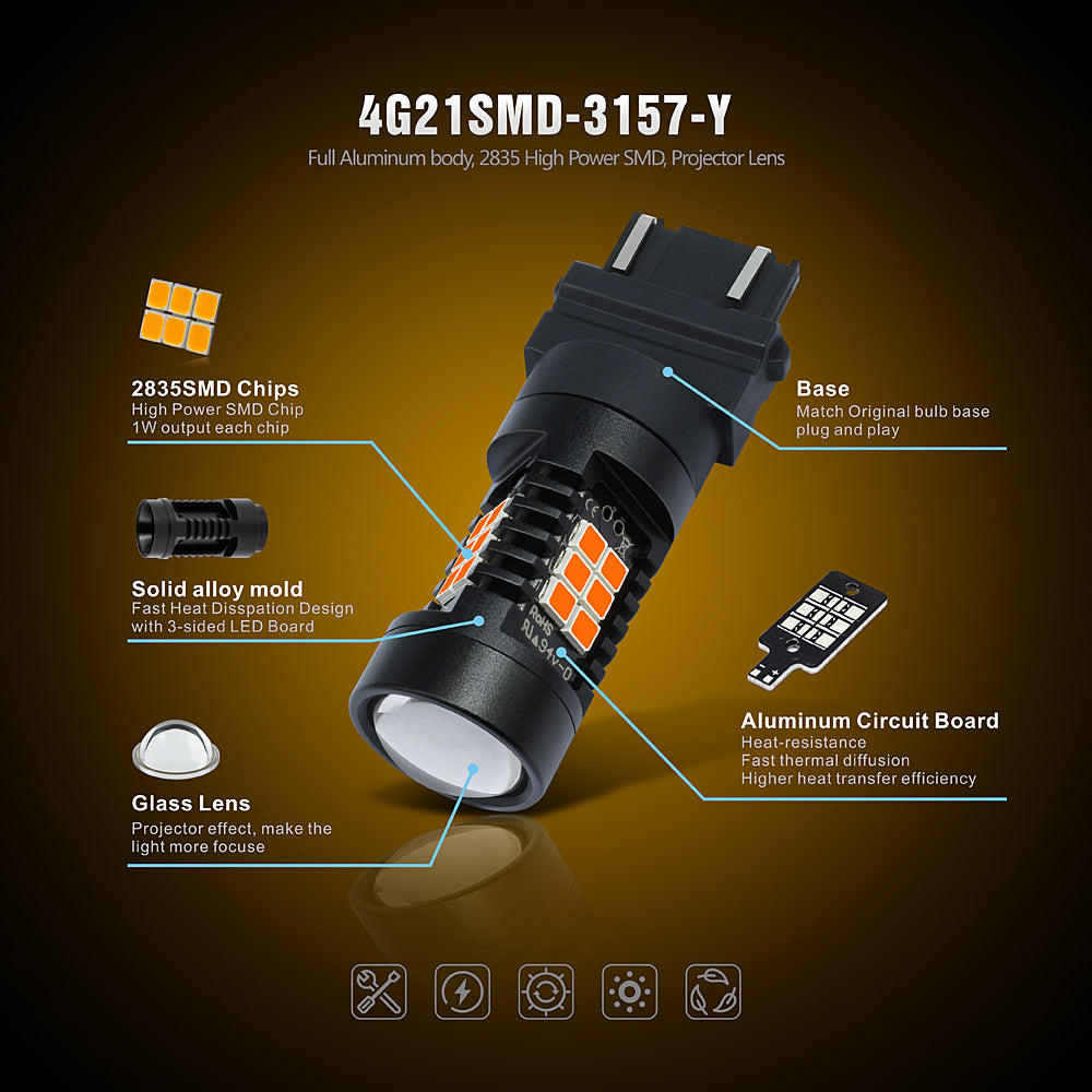 CK Series LED Exterior Light-3157 Amber