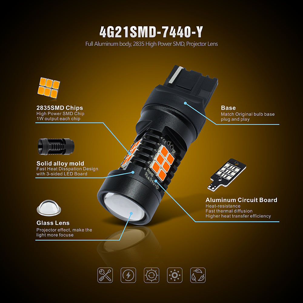 CK Series LED Exterior Light-7440 Amber