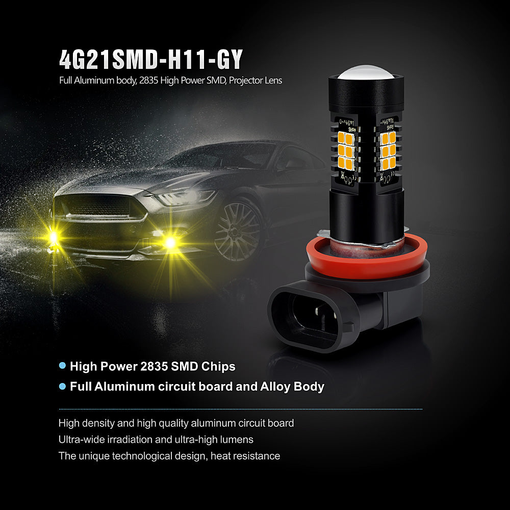 CG LED Fog Lights-H8 Golden Yellow