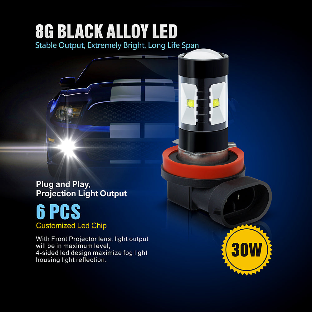 BK 30W LED Fog Lights-H11