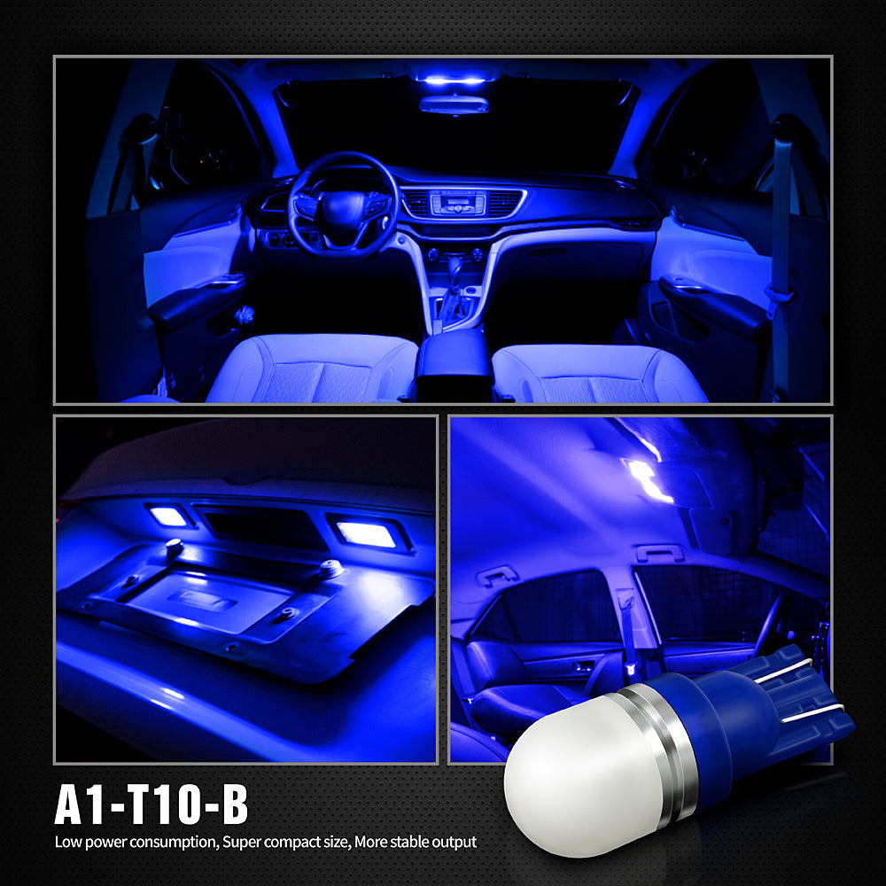 Pack of 6 LED Interior Lights-194 Blue