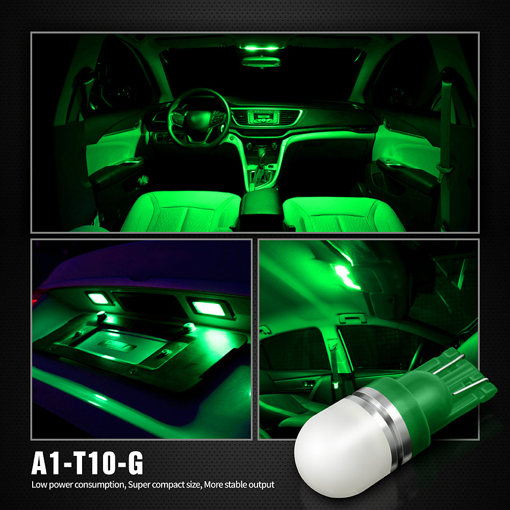 Pack of 6 LED Interior Lights-194 Green