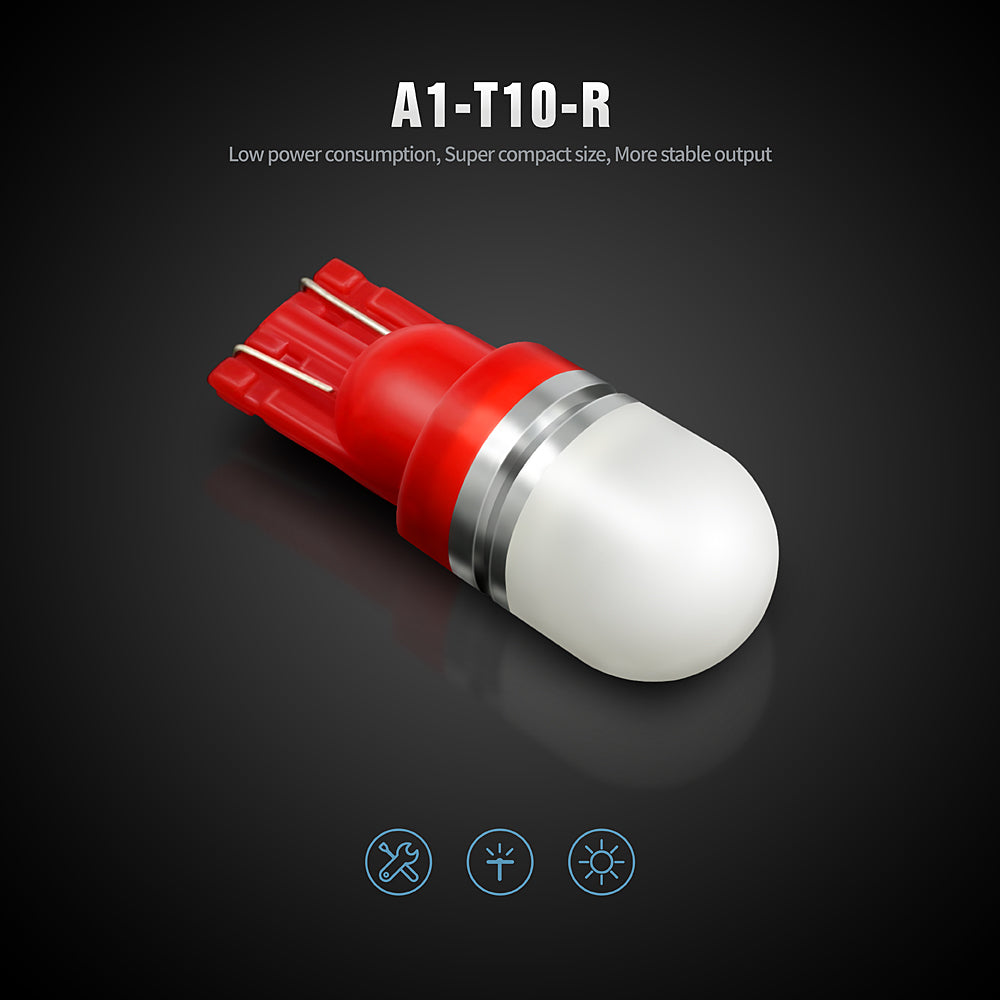 Pack of 6 LED Interior Lights-194 Red