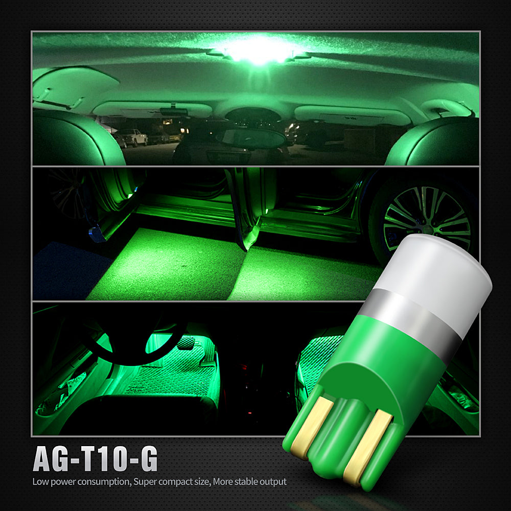 Pack of 4 LED Interior Lights-194 Green