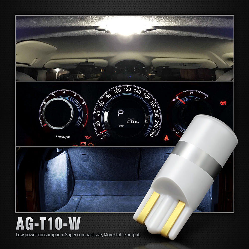Pack of 6 LED Interior Lights-194 White