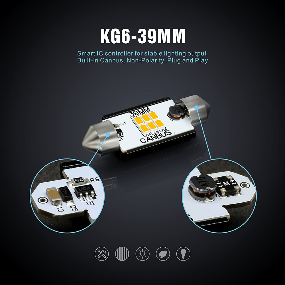 KG Series Interior Festoon-39mm-Canbus