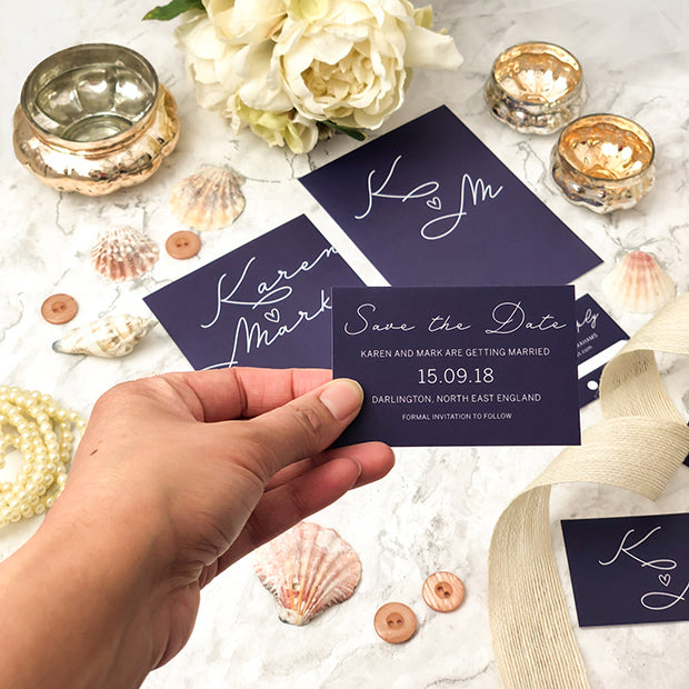 Wedding stationery save the date cards