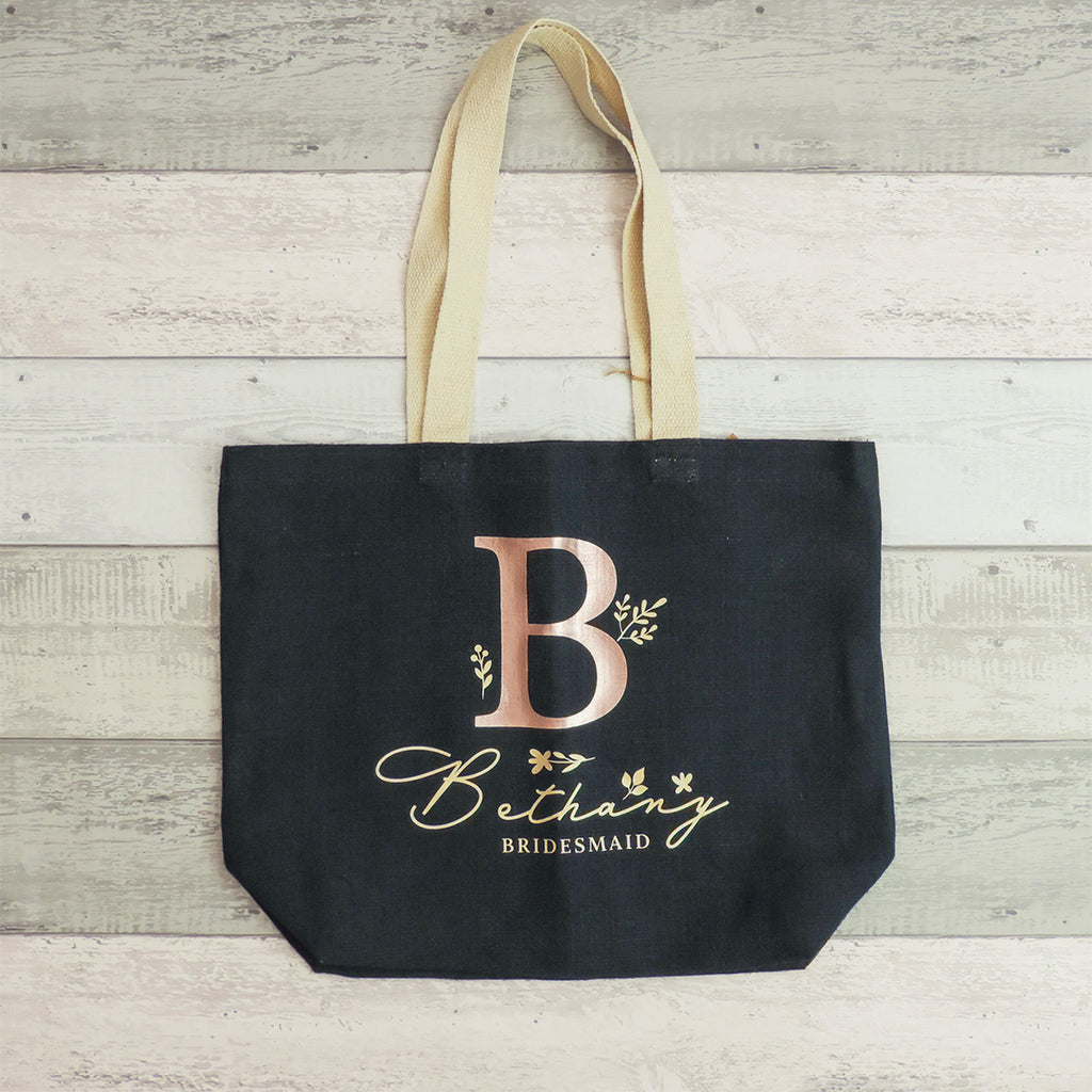 Belle Personalised Tote Shopper (Navy)