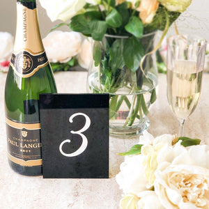 Black Acrylic Table Numbers