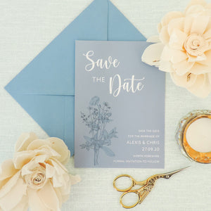 Blue Wildflower 4-in-1 Stationery Pack