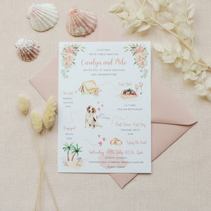 Carolyn Illustrated Love Story Wedding Invitations