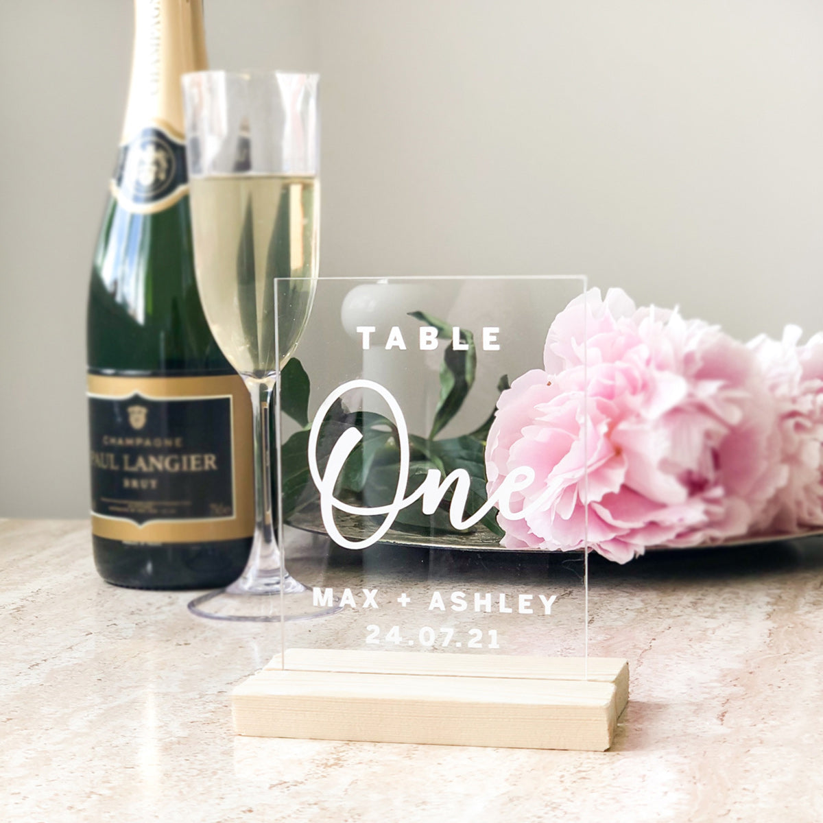 Personalised Clear Acrylic Table Numbers