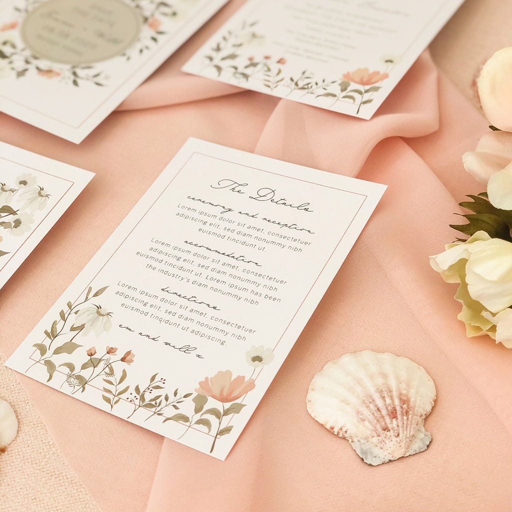 Dainty Floral Guest Information