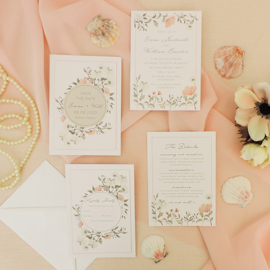 Dainty Floral 4-in-1 Stationery Pack