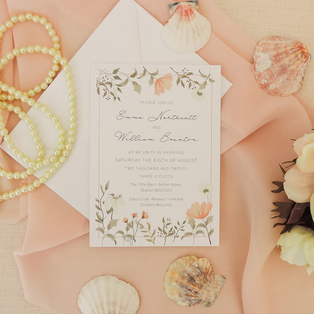 Dainty Floral Wedding Invitations