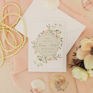 Dainty Floral Save The Date Cards