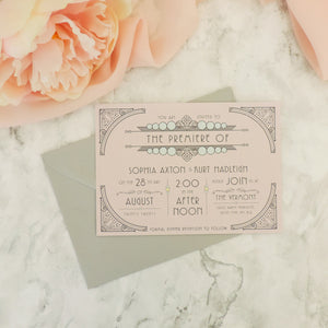 Deco Nouveau Wedding Invitations
