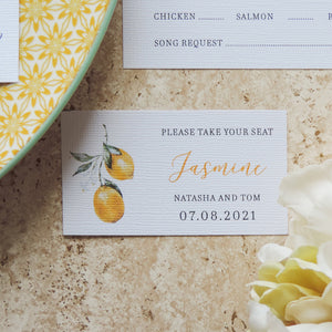 Essence of Italy Lemons Place Card