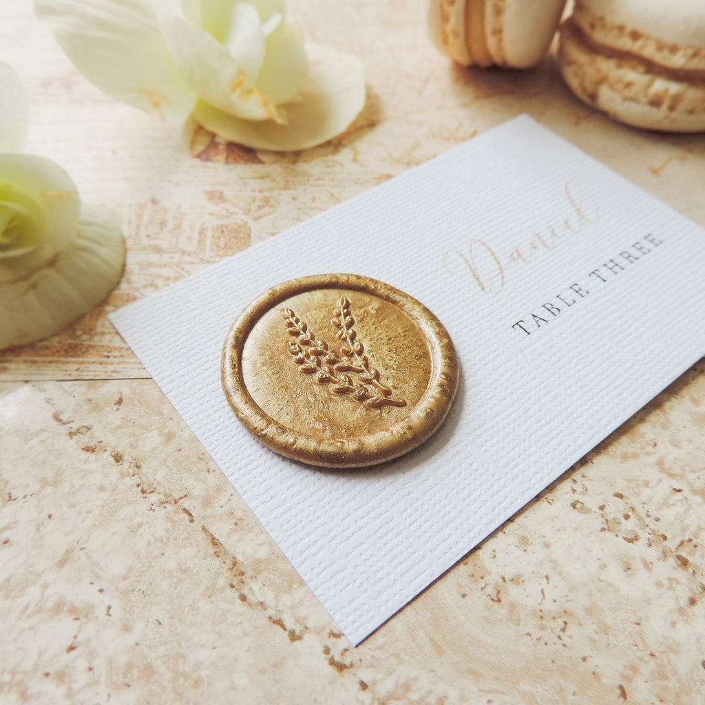 Gold Splendour Wax Seal Place Card