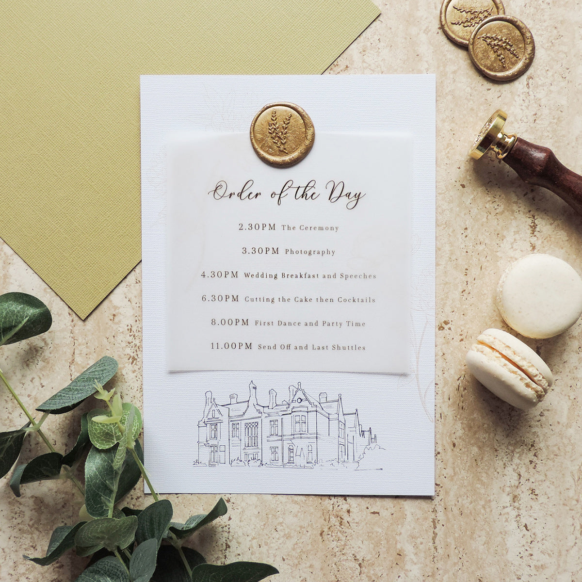 Gold Splendour Wax Seal Order of the Day