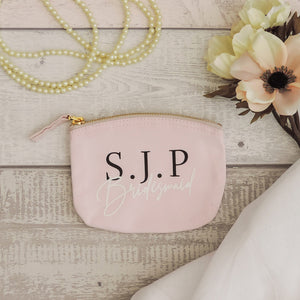 Jessie Personalised Bridesmaid Coin Purse (Pink)
