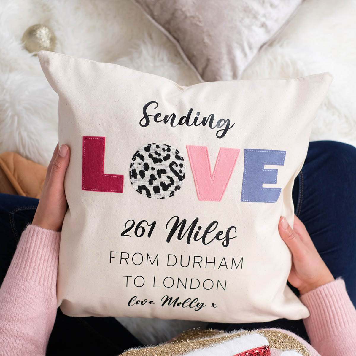 Love Lockdown Christmas Cushion