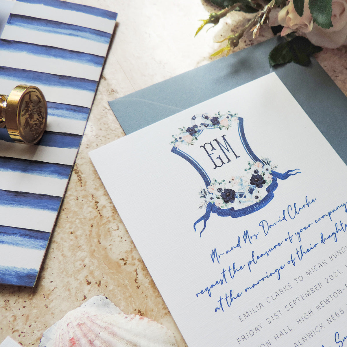 Nautical Crest 4-in-1 Stationery Pack