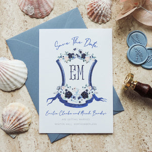 Nautical Crest Save the Date