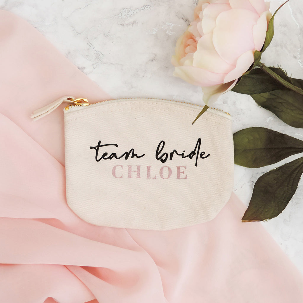 Nova Personalised Bridesmaid Coin Purse (Cream)