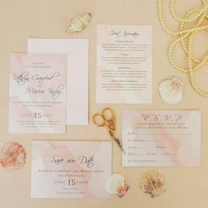 Pink Watercolour RSVP