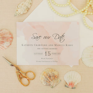 Pink Watercolour Save The Date