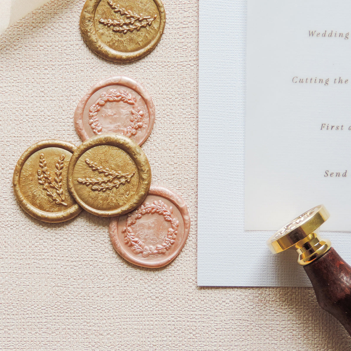 Rose Opulence Wax Seal Order of the Day