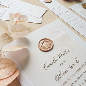 Rose Opulence Wax Seal Invitation