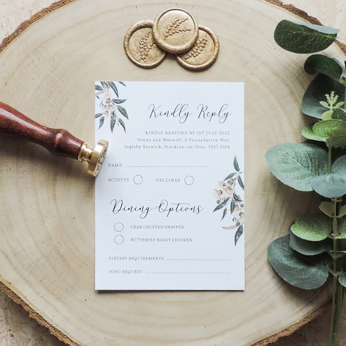 African Safari Wedding RSVP