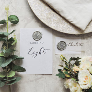 Silver Elegance Wax Seal Table Number
