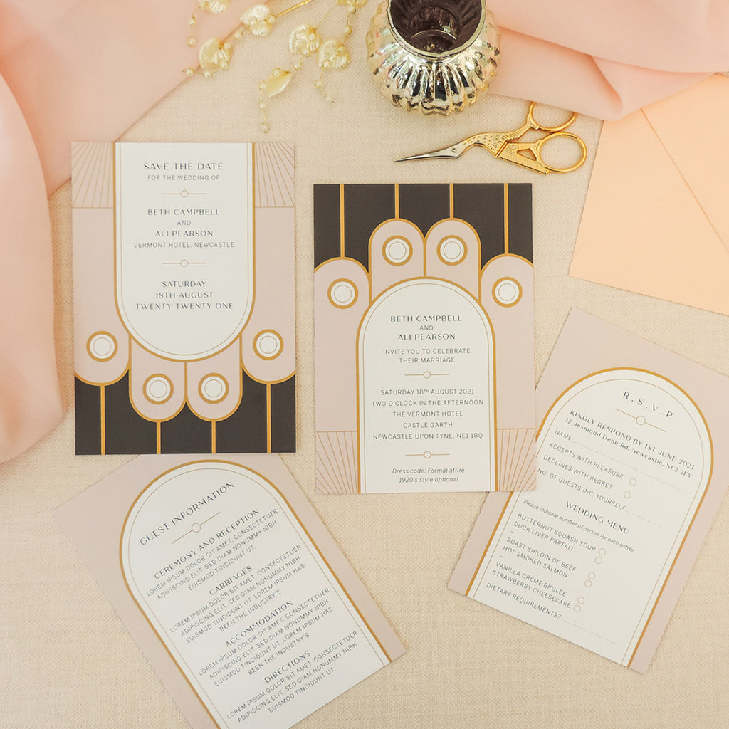 Speakeasy Art Deco 4-in-1 Stationery Pack
