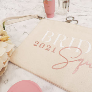 Tamsin Personalised Bride Squad Makeup Bag (Cream)