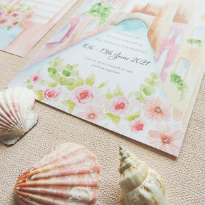 Venice Watercolour Wedding Invitations