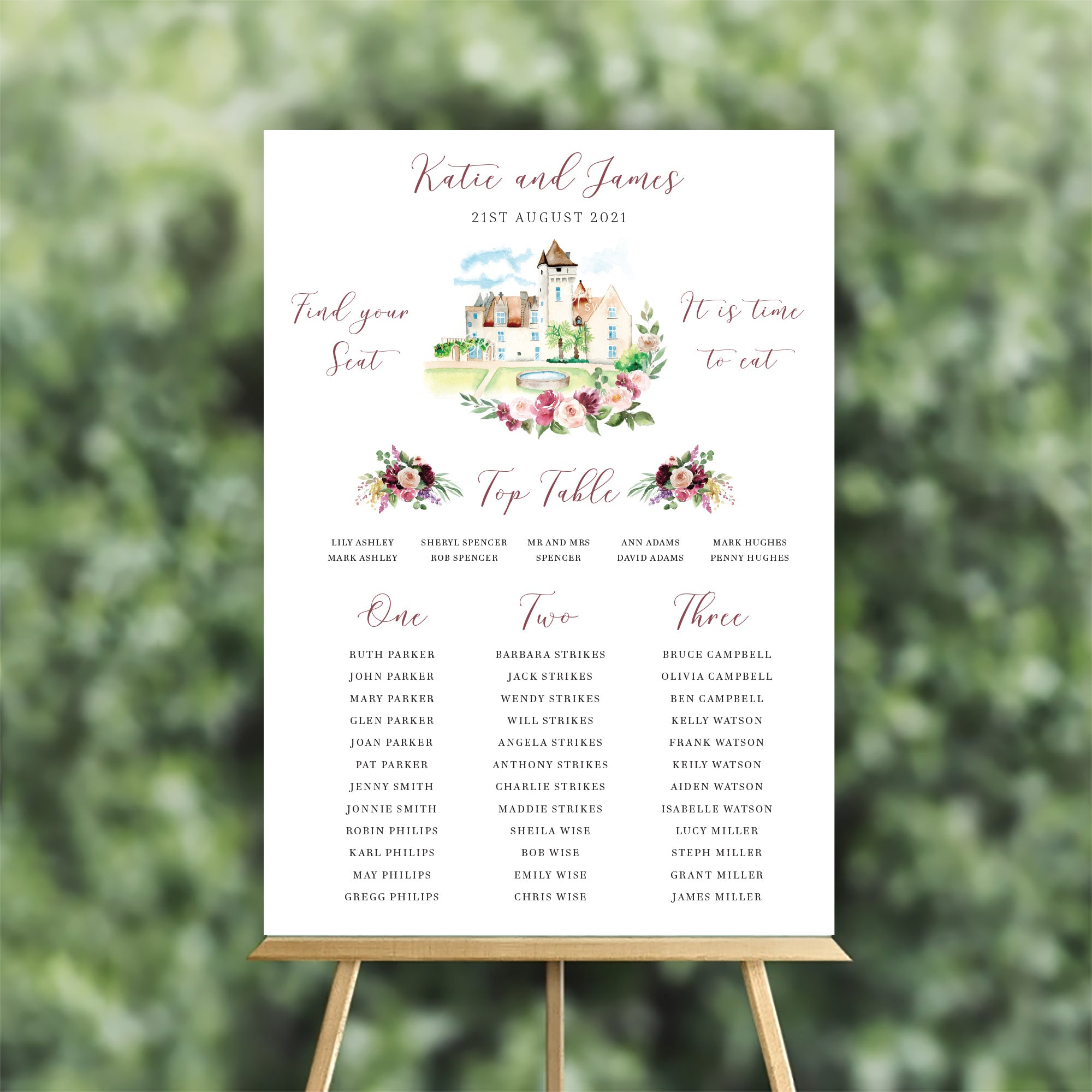 Bespoke Venue Illustration Table Plan