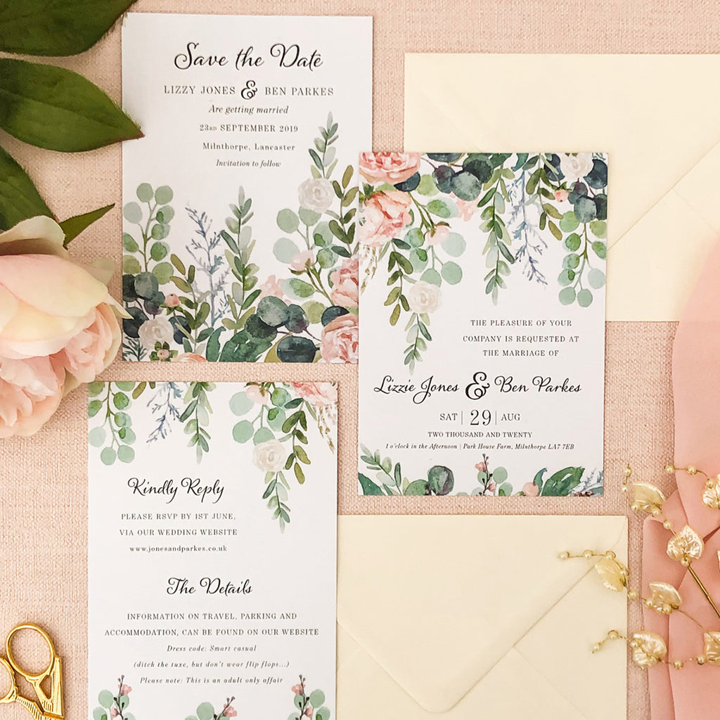 Watercolour Eucalyptus 4-in-1 Stationery Pack