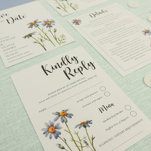 Blue Daisies 4-in-1 Stationery Pack